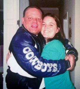 Jennfier Mullinax hugging her dad
